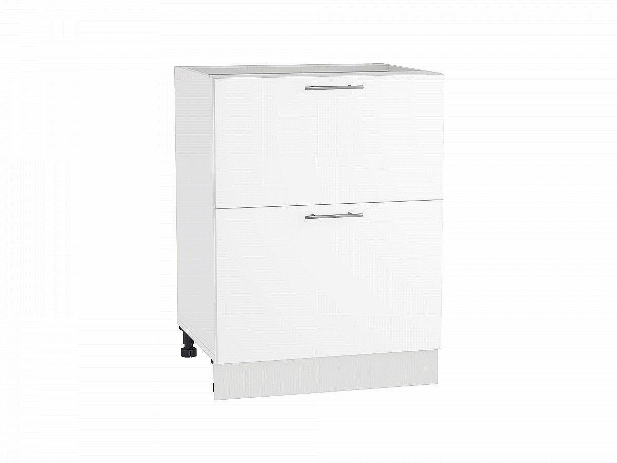 Шкаф нижний Валерия Н602 белый глянец