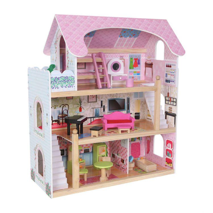 Деревянный кукольный дом Ecotoys ZA-4110