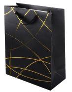 """Пакет подарочный """"Классика"""", чёрный, 26*32*12 см"""