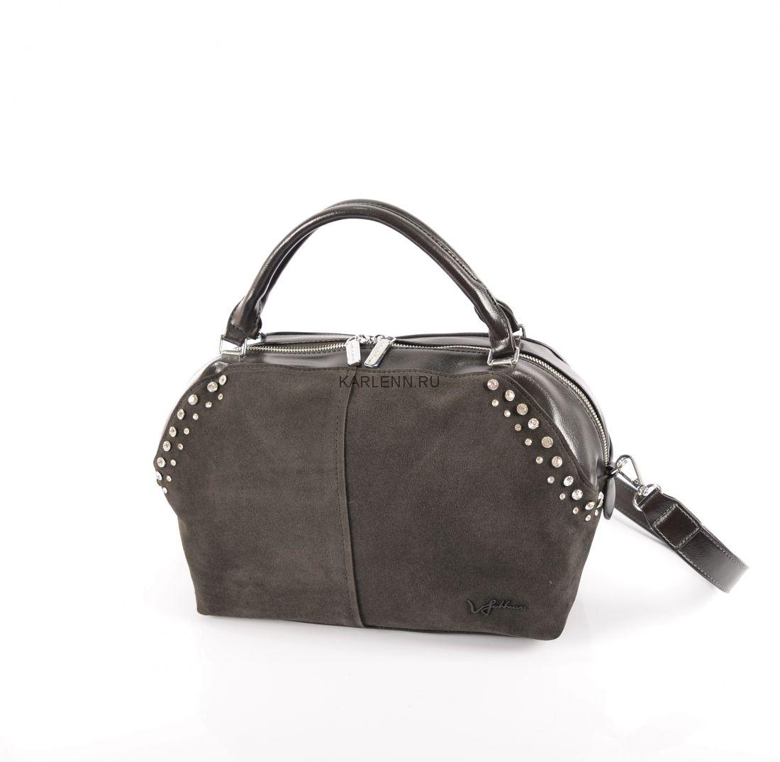 Классическая женская сумка Velina Fabbiano (серая)
