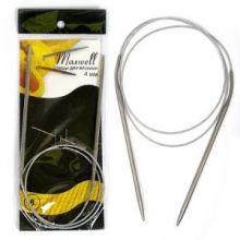 Спицы круговые на тросиках Maxwell Black 80 см арт.#8 4,0мм
