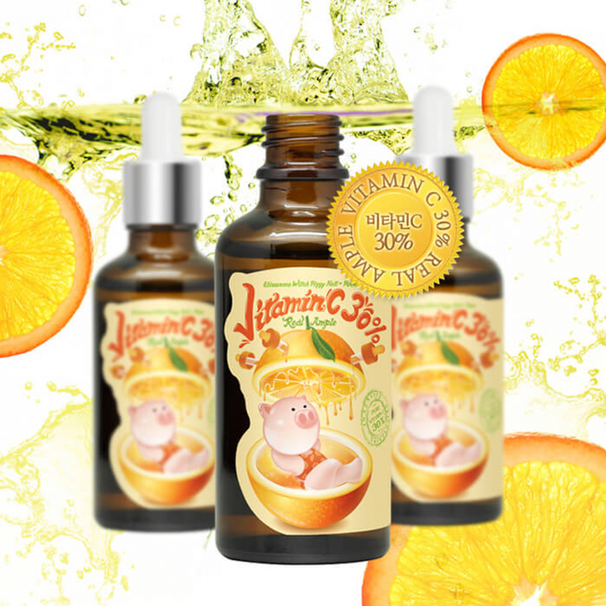 Сыворотка для лица с витамином С Elizavecca Witch Piggy Hell Pore vitamin C 30% real ample 50мл