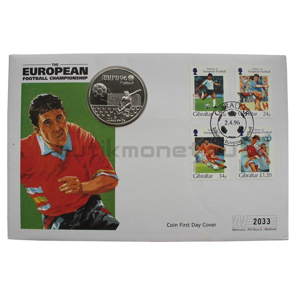 1 крона 1996 Гибралтар Чемпионат Европы по футболу