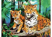 "Холст с красками ""Леопард"" 30х40 см (арт. Х-0395)"