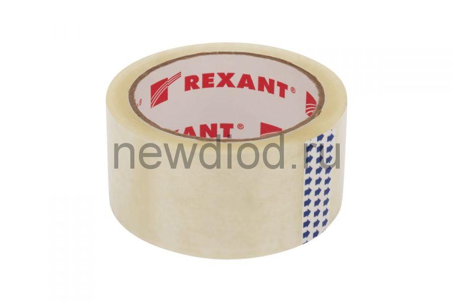 Скотч упаковочный 48 мм х 50 мкм, прозрачный (рулон  66 м) REXANT