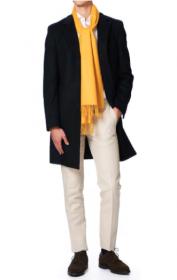 однотонный кашемировый шарф (100% драгоценный кашемир), Янтарный цвет, AMBER CLASSIC CASHMERE высокая плотность 7