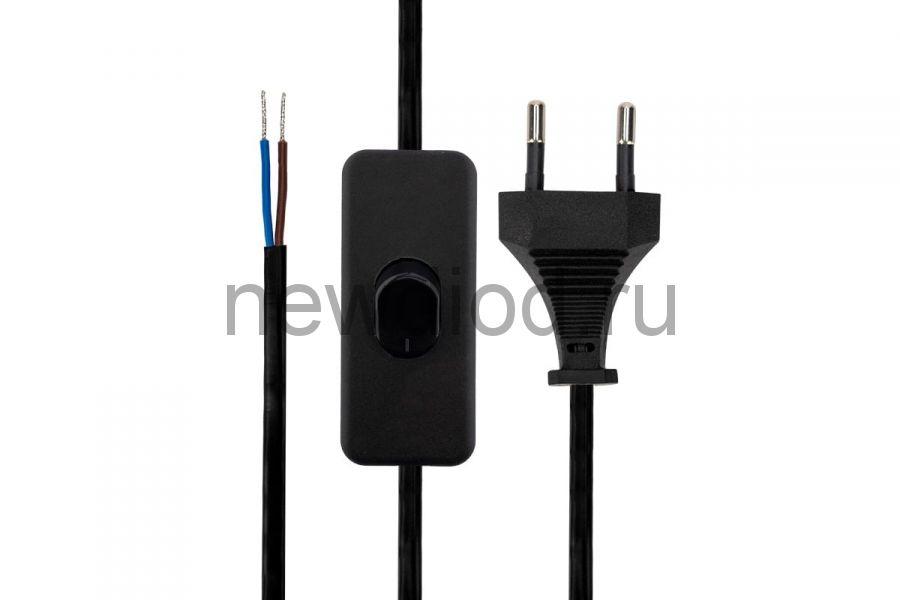 Сетевой шнур с выключателем 2х0,75 мм², 1,8 м черный REXANT