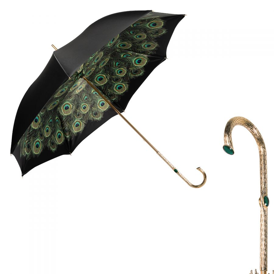 Зонт-трость Pasotti Nero Hawai Oro