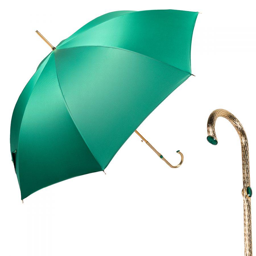 Зонт-трость Pasotti Uno Oxford Verde Oro