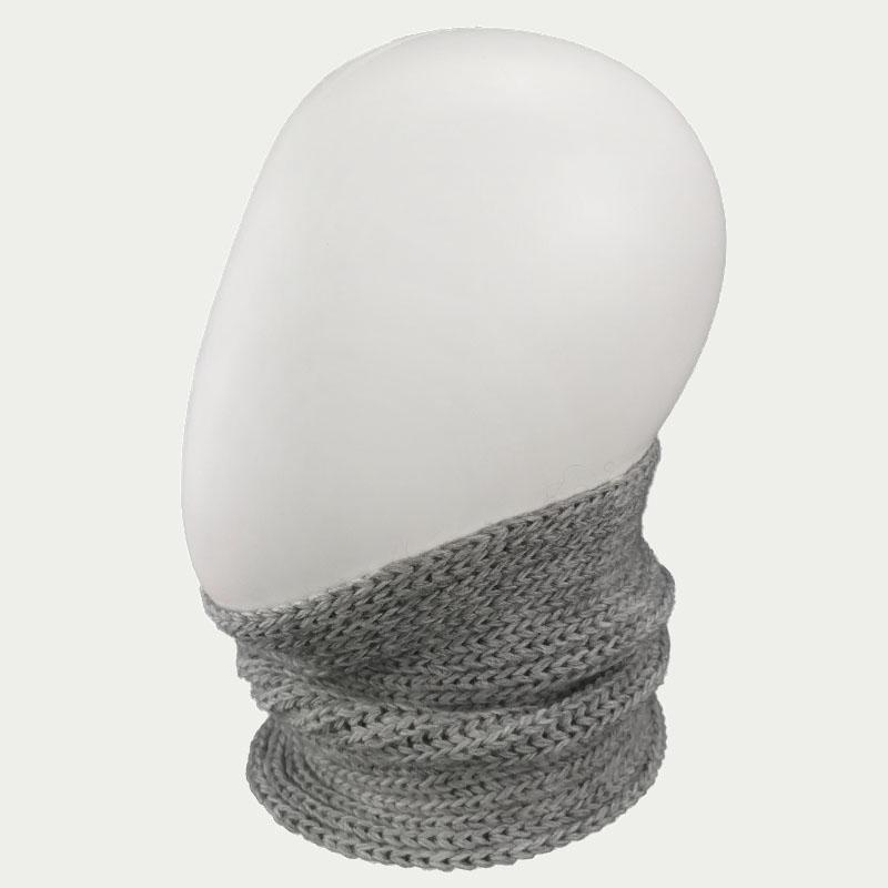сн1006-51 Снуд-бафф вязаный один оборот резинка мини серый