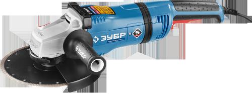 Угловая шлифмашина ЗУБР УШМ-П230-2400 ПВ серия Профессионал