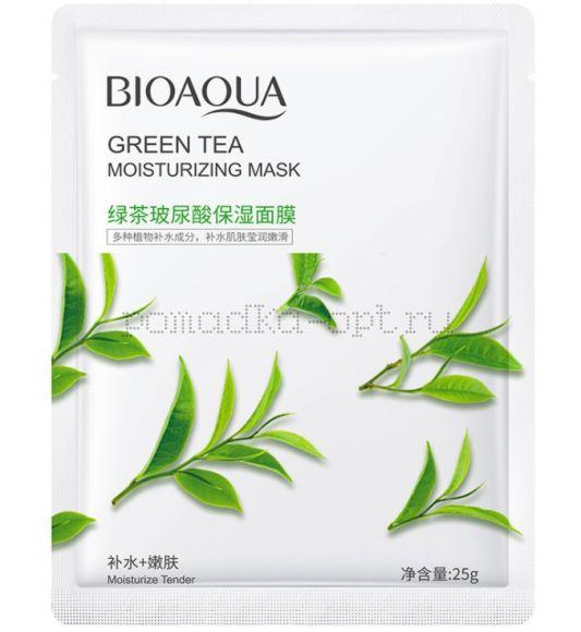 Оригинал BIOAQUA Маска Тканевая с гиалуроновой кислотой и зеленым чаем
