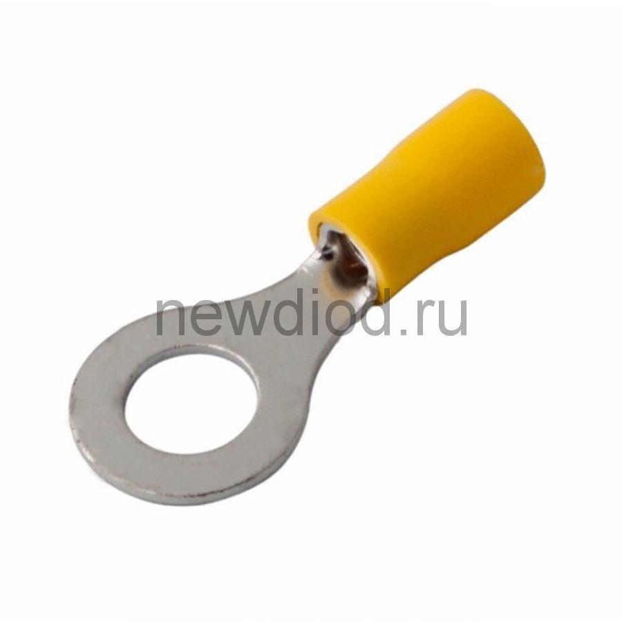 НАКОНЕЧНИК КОЛЬЦЕВОЙ изолированный ø6.5мм 4-6мм² (НКи 6.0-6 / НКи5,5-6 / RV5.5-6) желтый  REXANT