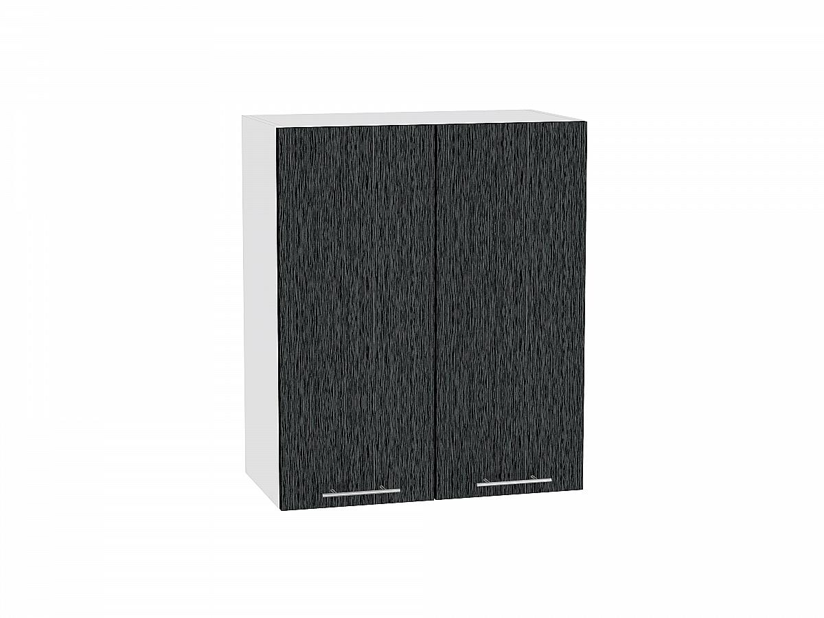 Шкаф верхний Валерия В609 (чёрный металлик дождь)