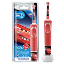 Электрическая зубная щетка Oral-B Vitality Kids Тачки D100.413.2K, красный