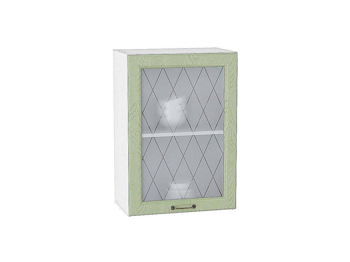 Шкаф верхний Ницца В500 со стеклом (дуб оливковый)