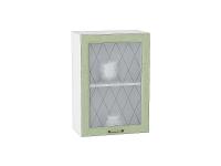 Шкаф верхний с 1-ой дверцей Ницца В500 со стеклом в цвете дуб оливковый