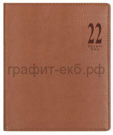 Еженедельник датир.А4 Letts MILANO светло-коричневый 412 154081/22-081395