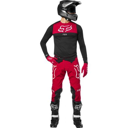 Fox - 2019 Flexair Royl Red комплект джерси и штаны, красный