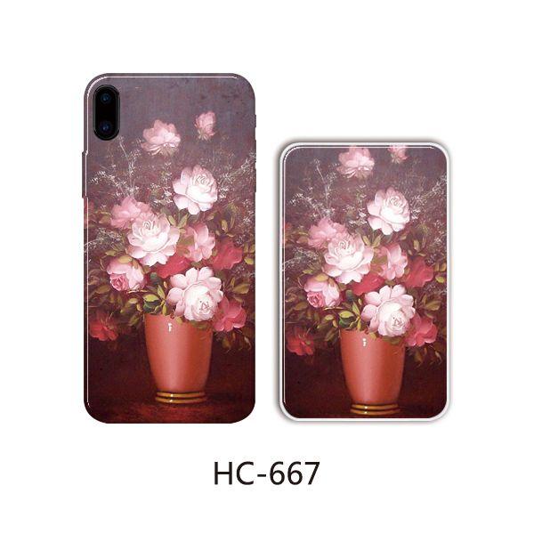 Защитный чехол HOCO Colorful and graceful series для iPhoneXS (цветы в горшке темные)