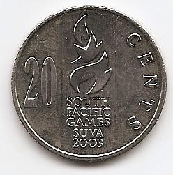 Тихоокеанские игры 20 центов  Фиджи 2003
