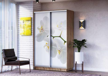 Шкаф ЛЕО Белая Орхидея 1200