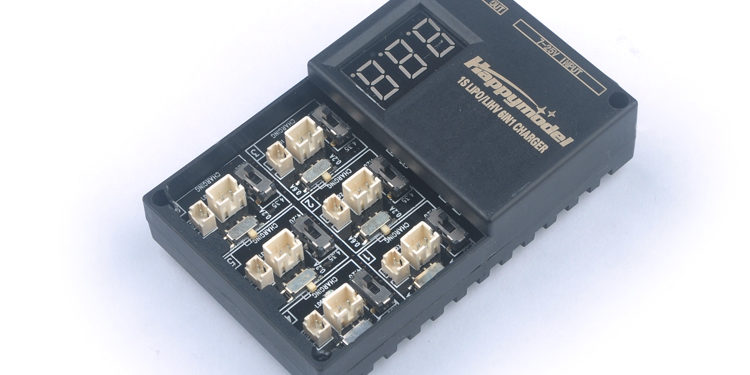 Happymodel 1S06 6 Way Lipo/LIHV Battery Charger