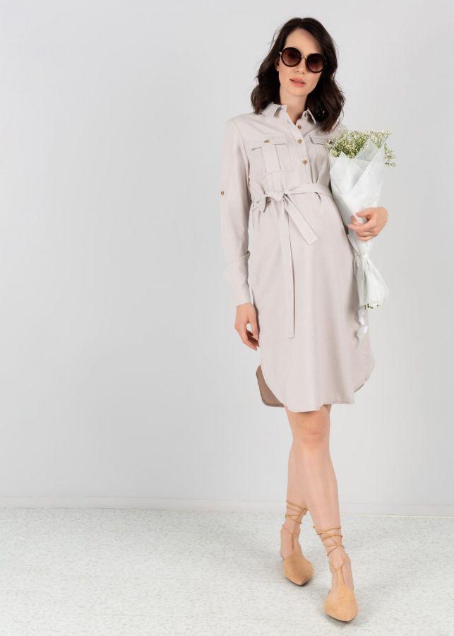 """Платье """"Эстель"""" для беременных и кормящих цвет бежевый"""