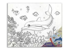 "Холст на картоне ""Морской мир"" 25х30 см (арт. Х-9698)"