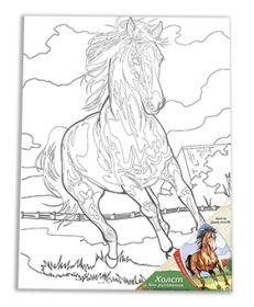 """Холст на картоне """"Дикая лошадь"""" 30х40 см (арт. Х-9701)"""