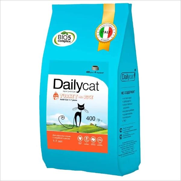 Сухой корм для стерилизованных кошек DailyCat Adult Steri Lite Turkey & Rice с индейкой и рисом