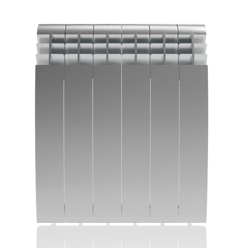 Настенный электрический радиатор отопления РЭБ 6 секций х 500, серый