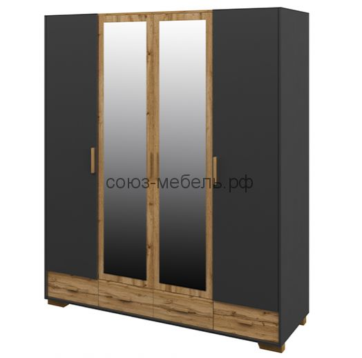 Спальня Сканди (Шкаф МН-036-34+Комод МН-036-17+Тумба МН-036-28 - 2шт+Кровать МН-036-20)