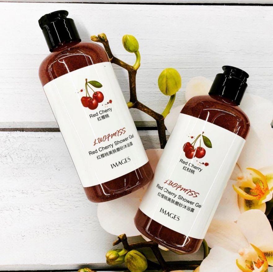 Гель-скраб для тела c экстрактом вишни Imeges Red Cherry (QW250)