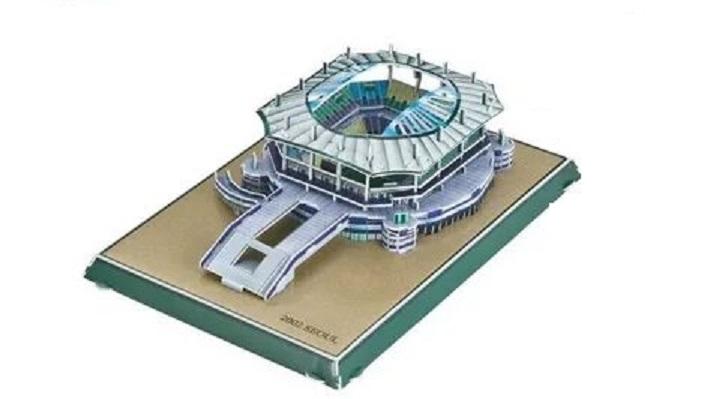 Конструктор 3D пазл Сеульский футбольный стадион 63 детали