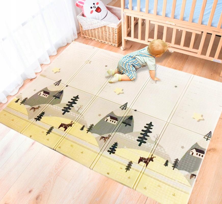 Большой ,складной детский коврик 180x200 см