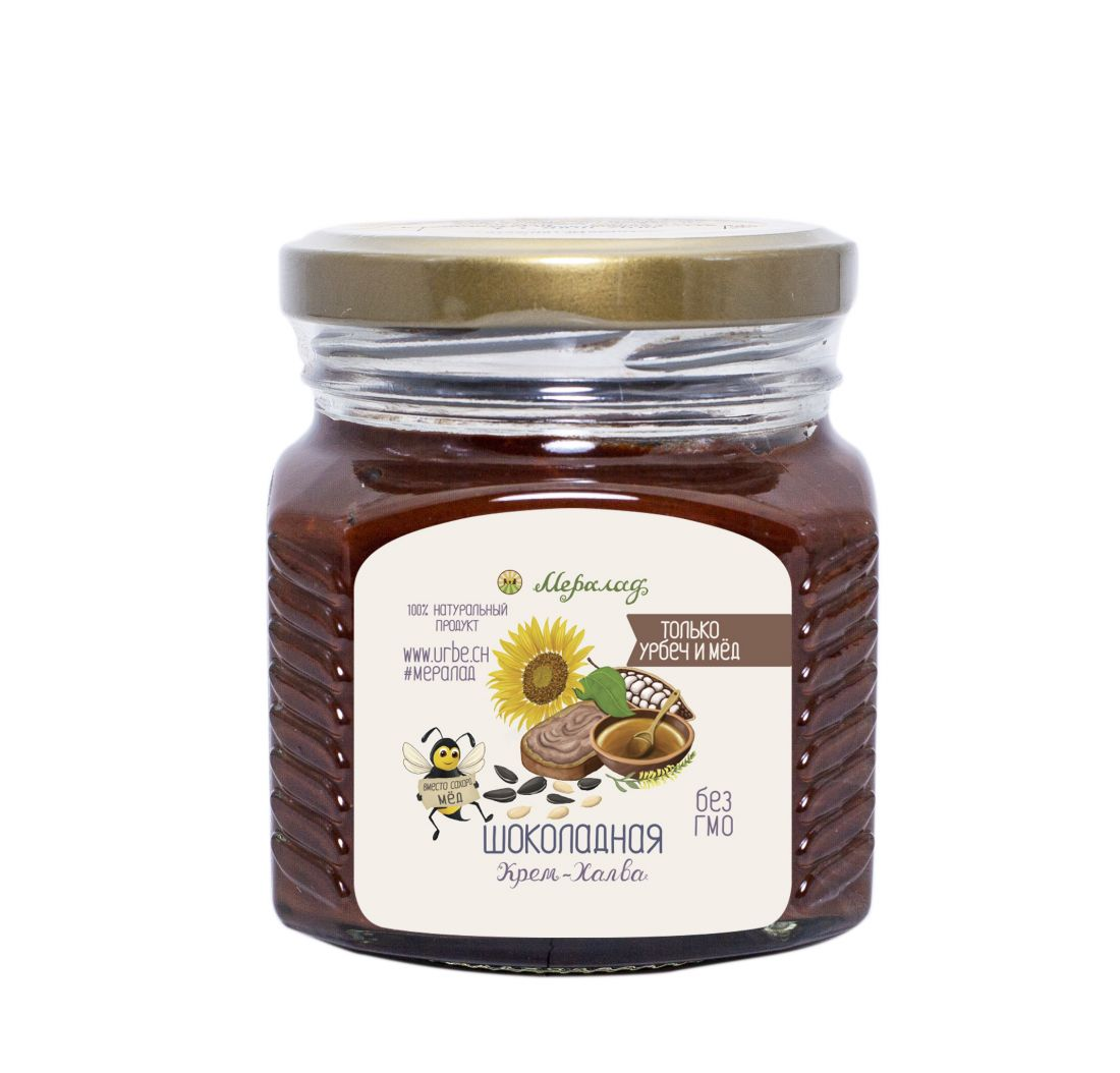 МЕРАЛАД Крем-халва - шоколадная - посолн.урбеч,мед, урб. какао - 230 гр
