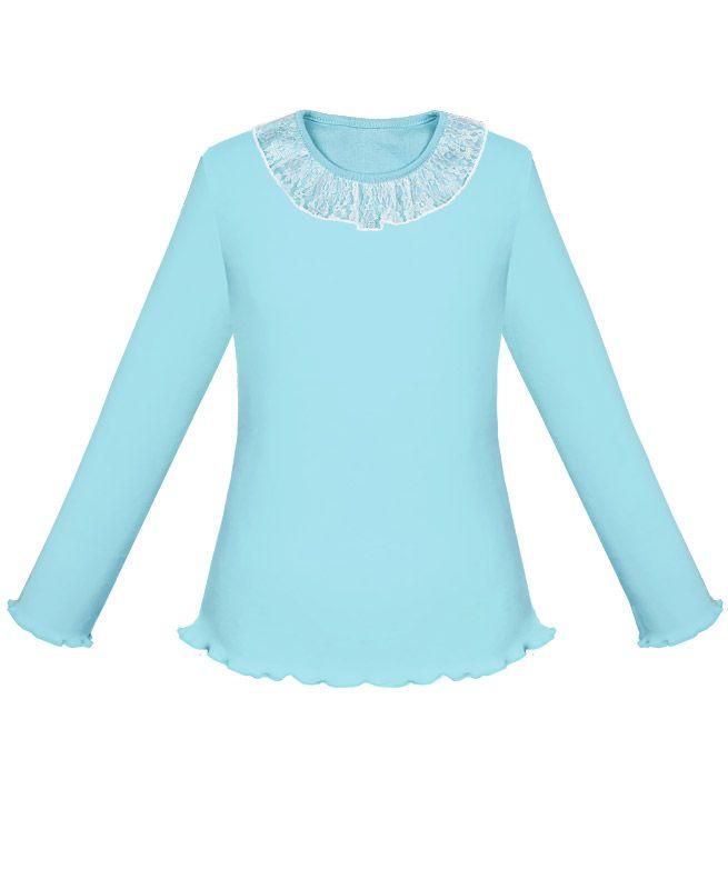 Голубая школьная блузка для девочки