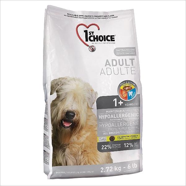 Сухой корм для собак 1st Choice Hypoallergenic гипоаллергенный с уткой и картофелем