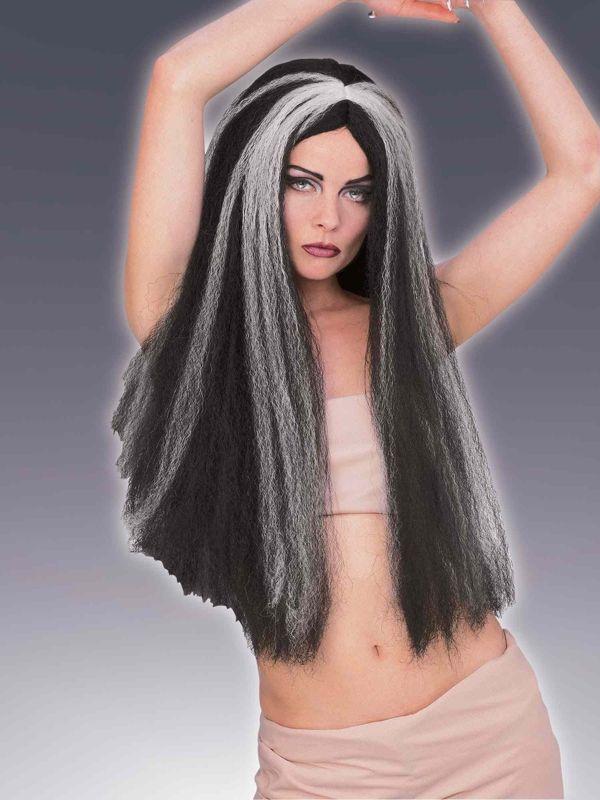 Парик полосатых экстра длинных волос