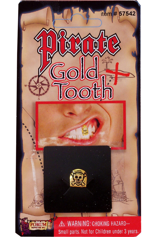 Зуб пирата золотой