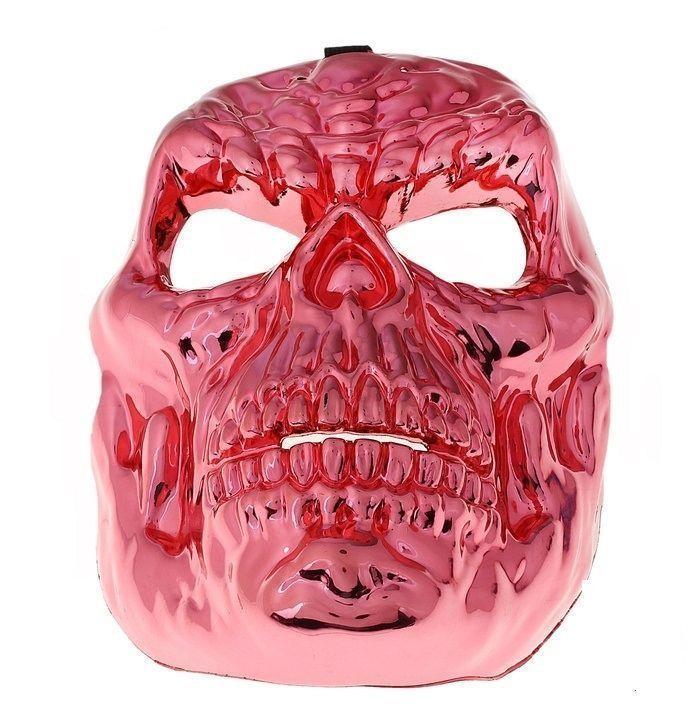 Маска красная в виде черепа