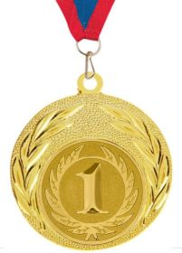 Медаль наградная за 1 место 40 мм с лентой