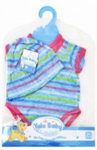 Одежда для куклы 45 см: боди/шапочка, синий (BLC59)