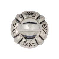 Накладка-фиксатор Venezia WC-2 D5. натуральное серебро+черный