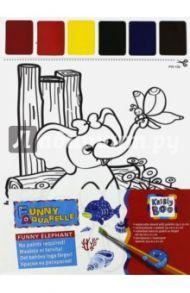 """Набор для раскрашивания акварелью """"Слоненок и бабочка"""" (58569)"""