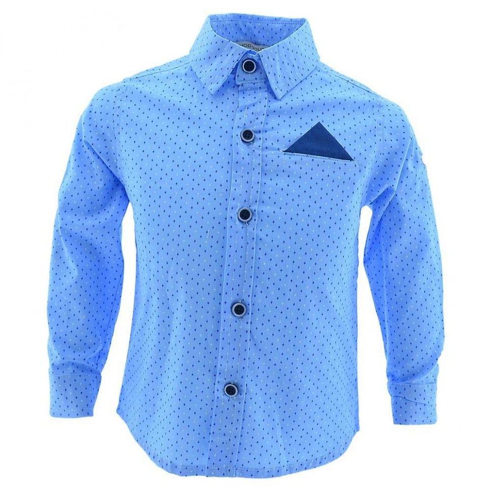 Рубашка с длинным рукавом для мальчика 2-5 (голубой)