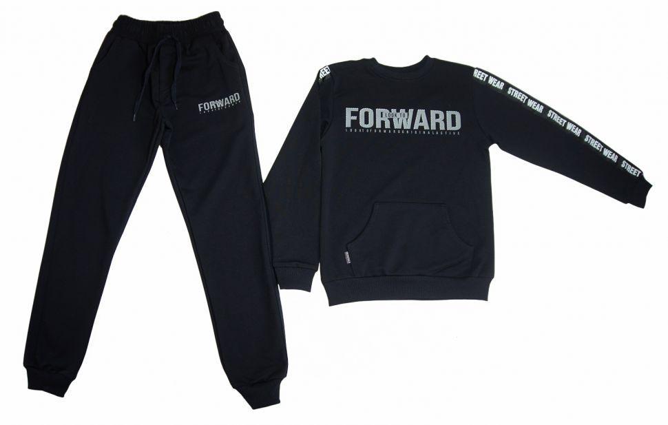 "Спортивный костюм для мальчика ""FORWARD"": свитшот, брюки 5-8 (синий)"