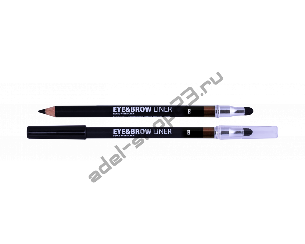 Lamel - Карандаш для глаз и бровей Professional EYEBROW PENCIL WITH SPONGE