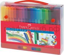 Фломастеры 60цв.Faber-Castell Connector в пласт.пенале 155560